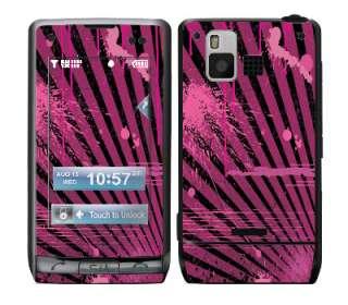 Splatter Pink Skin Vinyl Decal Wrap for LG Dare VX9700 cell phone