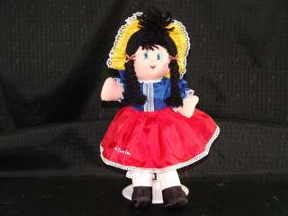 Handmade Venezuela Plush Dancer Girl Plush Doll Toy