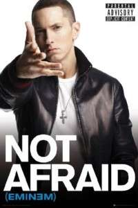 EMINEM NOT AFRAID POSTER Marshall Mathers Slim Shady