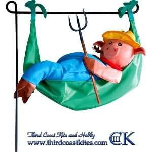 Farmer Pig   Swinging Hammock Garden Charm Sports