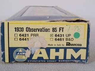 AHM/Rivarossi 6431 HO 85 Observation Passenger Car UP #9901
