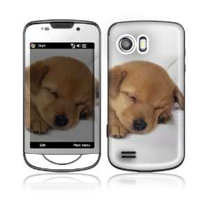 Animal Sleeping Puppy Design Protective Skin Decal Sticker for Samsung