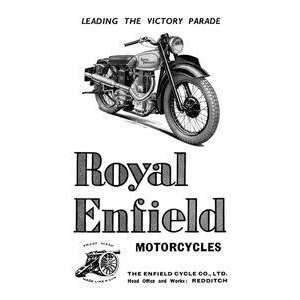 Art Royal Enfield Motorcycles Leading the Victory Parade   00621 8