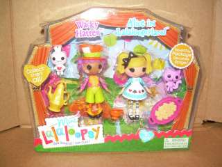 Mini Lalaloopsy Tales 2 pack WACKY HATTER & ALICE IN LALALOOPSY LAND