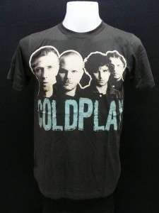 Coldplay music alternative rock band men black t shirtS