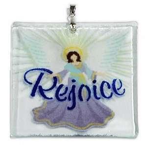 Karr Glass Rejoice Angel Art Glass Christmas Ornament: Home & Kitchen