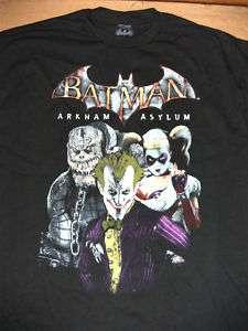 DC Batman Arkham Asylum Game Shirt L Joker Harley Kroc