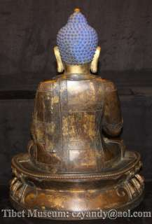 Antique Tibetan Gilded Bronze Buddha Statue Sakyamuni Buddha