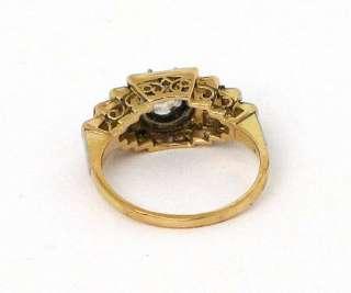 VICTORIAN 18K GOLD PLATINUM & DIAMONDS LADIES BAND RING