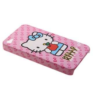 New Hello Kitty Plastic Hard Cover skin Case for iPhone 4 4G 4S Pink