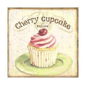 Cherry Cupcake Altered Art Cross Stitch Pattern Chart
