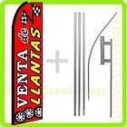Swooper Feather Flutter Banner Sign Flag 15 Kit   VENTA DE LLANTAS q