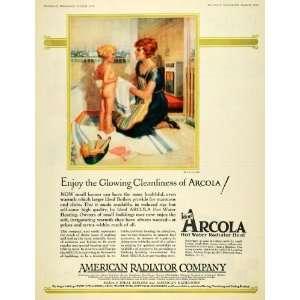 1926 Ad American Radiator Arcola Hot Water Heater Bath