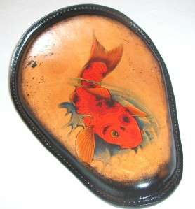 Tattoo Leather Koi Motorcycle Spring Solo Seat Harley Chopper Frame