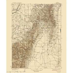 USGS TOPO MAP HALLECK QUAD NEVADA (NV) 1935 Home