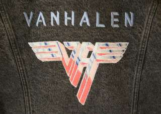 VINTAGE CUSTOM VAN HALEN VH LOGO BLACK DENIM JACKET