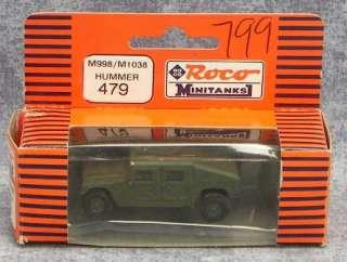 17 ROCO Minitanks Tanks Truck Jeeps Military Vehicles HO Scale w