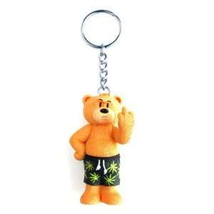 Shorty Weed Pot Marijuana Leaf Bad Taste Bear Keyring