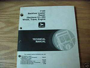 John Deere 710D Backhoe Trans,Engine Technical Manual