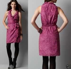 Ann Taylor LOFT Mini Animal Print Wrap Dress NWT 6,8,6P