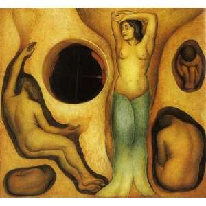 Hand Made Oil Reproduction   Diego Rivera   24 x 22 inches