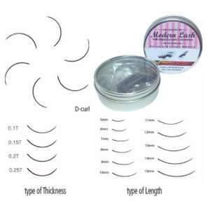 Modern Lash EyeLash Extensions D   Curl Lashes .15mm Thick