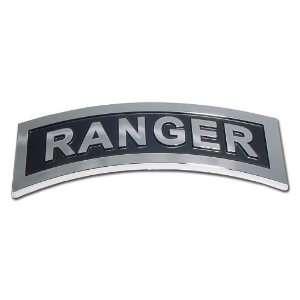 USA United States Army Ranger Premium Chrome Metal Car