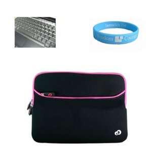 Neoprene Sleeve Black Pink Case for 13 inch Asus UL30,UL30A,U35,U33