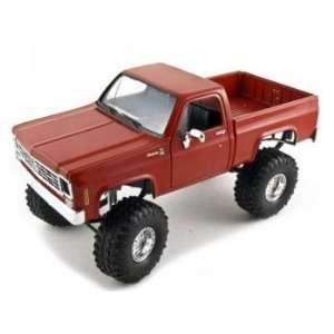 Car Model 1/24 Crimson Red With Irok Swampers Tires: Toys & Games
