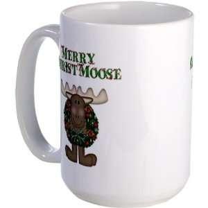 Merry ChristMoose Funny Large Mug by CafePress: Everything