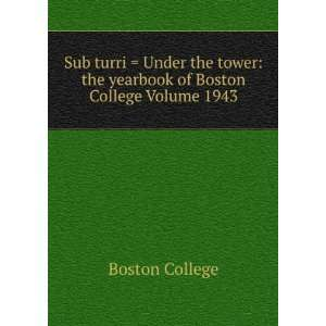 Sub turri = Under the tower: the yearbook of Boston