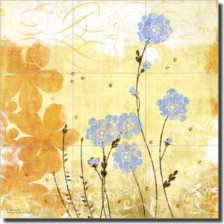 Evelia Flowers Floral Art Ceramic Tile Mural Backsplash
