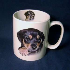 Large Cute Rottweiler Puppy Dog Jumbo 14 Ounce Coffee Mug