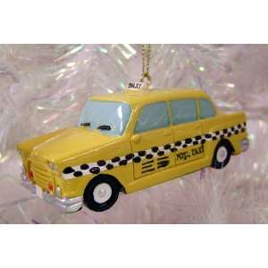 3.5 Old Fashioned Retro Yellow Checker NYC Taxi Cab