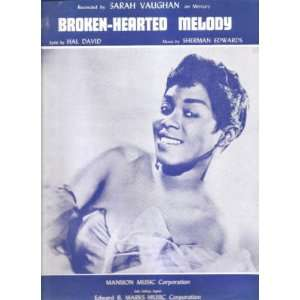 Sheet Music Broken Hearted Melody Sarah Vaughn 196