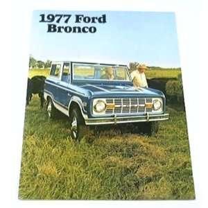 1977 77 Ford BRONCO Truck SUV BROCHURE Sport Ranger