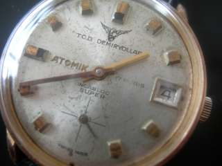 vintage ATOMIK railway incabloc super mens wrist watch