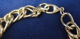 Vtg Liz Claiborne Gold Charm Bracelet Ring Hat Glasses Scottie Dog