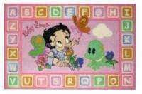 Betty Boop Alphabet 19x29 Pink Baby Girl Area Rug NEW