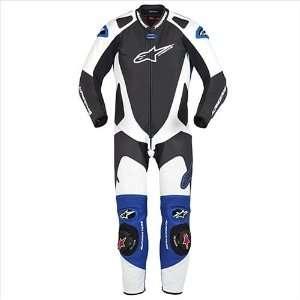 Alpinestars GP Pro One Piece Suit , Color Black/White/Blue, Size 52