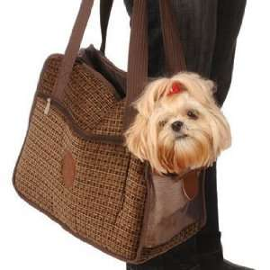 Sherpa Tote Around Town Small Boston Tweed Pet Dog Kitten