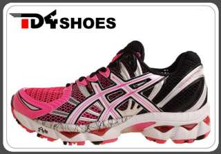 12 W Pink White Black 2011 Womens Pro Running Shoes T095N3501