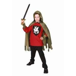 Medieval Knight   Child Medium Blue Costume: Toys & Games
