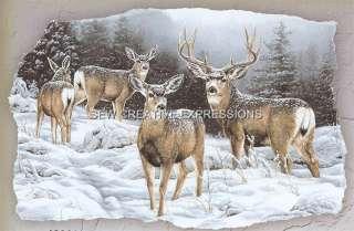Winter Deer   Wild Buck and Doe   Animal T Shirt