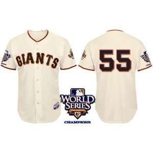 San Francisco Giants #55 Lincecum 2011 MLB Authentic Cream