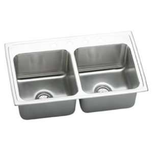 Top Mount Double Bowl 1 Hole Stainless Steel Sink DLR2519101 Home