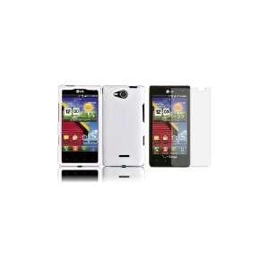 LG Lucid (Verizon) Premium Combo Pack   White Hard Shield