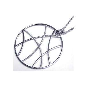 Nickel Free Silver Necklaces Abstract Round Necklace