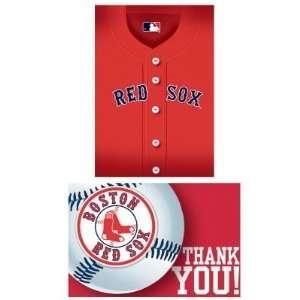 203839 Boston Red Sox Baseball  Invite & Thank You Combo Toys & Games