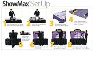 BLACK   Showmax Briefcase Table Top Trade Show Display
